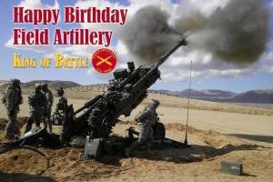 Happy Birthday Field Artillery - Brian Murphy Group BMG
